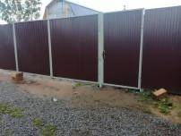 забор из профнастила цена за метр работы