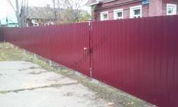 фото заборов из профлиста для частных домов